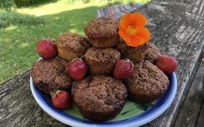 Strawberry Banana Flax Muffins (Grain-Free)