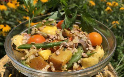 Roasted Summer Veggie & Rice Salad